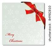 vector christmas ornament label ... | Shutterstock .eps vector #84982810