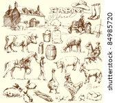 Farm Collection   Hand Drawn Set