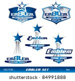 emblem set | Shutterstock .eps vector #84991888