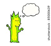 cartoon halloween fire spirit | Shutterstock .eps vector #85000639