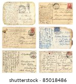 old postcards set | Shutterstock . vector #85018486