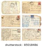 old postcards set   Shutterstock . vector #85018486