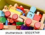 Wood Toys - stock photo