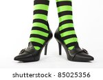 Witch's Green And Black Stripe...