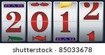 new year 2012 in slot machine | Shutterstock .eps vector #85033678