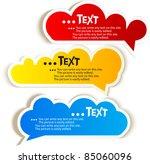 paper speech bubble | Shutterstock .eps vector #85060096