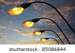 Street Light Against Twilight...