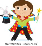 a young boy dressed as a... | Shutterstock .eps vector #85087165