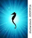 vector seahorses | Shutterstock .eps vector #85095916
