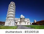 the leaning tower  pisa  italy | Shutterstock . vector #85100518