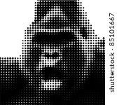 cri du gorille | Shutterstock .eps vector #85101667