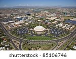 Arizona State University in Tempe, Arizona from the air