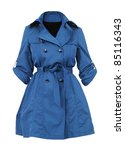 blue women coat - stock photo
