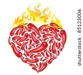 Chili Pepper Heart Shape ...
