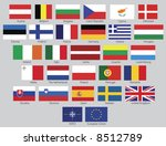 flags of the 27 members of the... | Shutterstock . vector #8512789