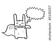 cartoon vampire rabbit superhero | Shutterstock .eps vector #85130257