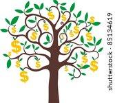 money growing on trees  dollars ... | Shutterstock .eps vector #85134619