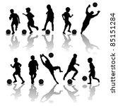 soccer  football players... | Shutterstock . vector #85151284