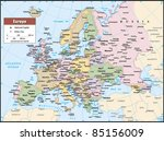 2012 europe political continent ... | Shutterstock .eps vector #85156009