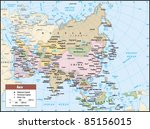 2012 asia political continent... | Shutterstock .eps vector #85156015