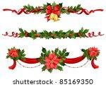 christmas festive decoration | Shutterstock .eps vector #85169350