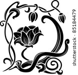 flower stencil. decorative...