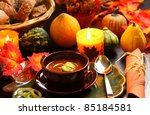 Goulash soup for autumn and Thanksgiving - stock photo