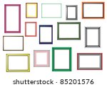 color frames | Shutterstock .eps vector #85201576