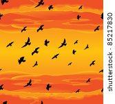 Seamless Flying Birds Vector