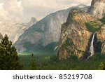 view of bridleveil falls and... | Shutterstock . vector #85219708