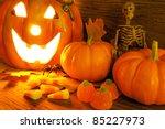 Halloween Night Scene Closeup...