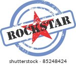 rubber stamp with the guitar | Shutterstock .eps vector #85248424