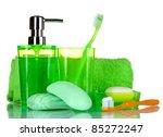 green bathroom accessories ... | Shutterstock . vector #85272247