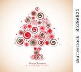 christmas tree | Shutterstock .eps vector #85286821