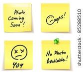 paper stickers   error 404 ... | Shutterstock .eps vector #85288510