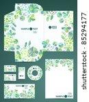 stationery set  eps10 | Shutterstock .eps vector #85294177