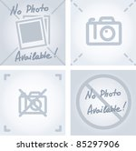 "no camera or photo sign as ""no image available""  picture - stock vector"