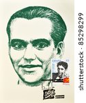 spain   circa 1998  a stamp... | Shutterstock . vector #85298299