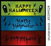 halloween banners | Shutterstock .eps vector #85299529