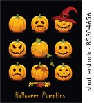 halloween icon set | Shutterstock .eps vector #85304656