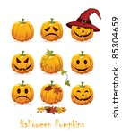 halloween icon set | Shutterstock .eps vector #85304659