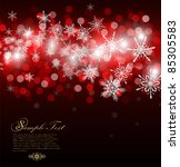 christmas background with place ... | Shutterstock .eps vector #85305583
