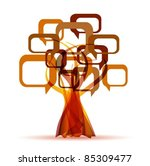 abstract colorful vector tree | Shutterstock .eps vector #85309477
