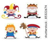 funny people collection  knave  ... | Shutterstock .eps vector #85322674
