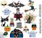 big halloween collection... | Shutterstock .eps vector #85322803