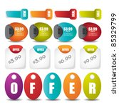 web stickers tags banner and... | Shutterstock .eps vector #85329799