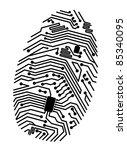 motherboard fingerprint for...   Shutterstock .eps vector #85340095