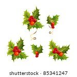 christmas's holly | Shutterstock .eps vector #85341247