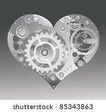 Mechanical heart vector illustration. - stock vector