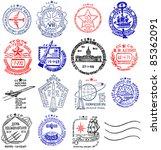 vintage ussr postage meter... | Shutterstock . vector #85362091